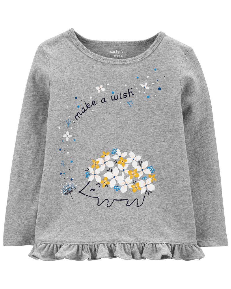 T-shirt en jersey porc-épic, , hi-res
