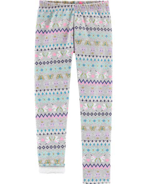Fair Isle Boa Fleece Leggings