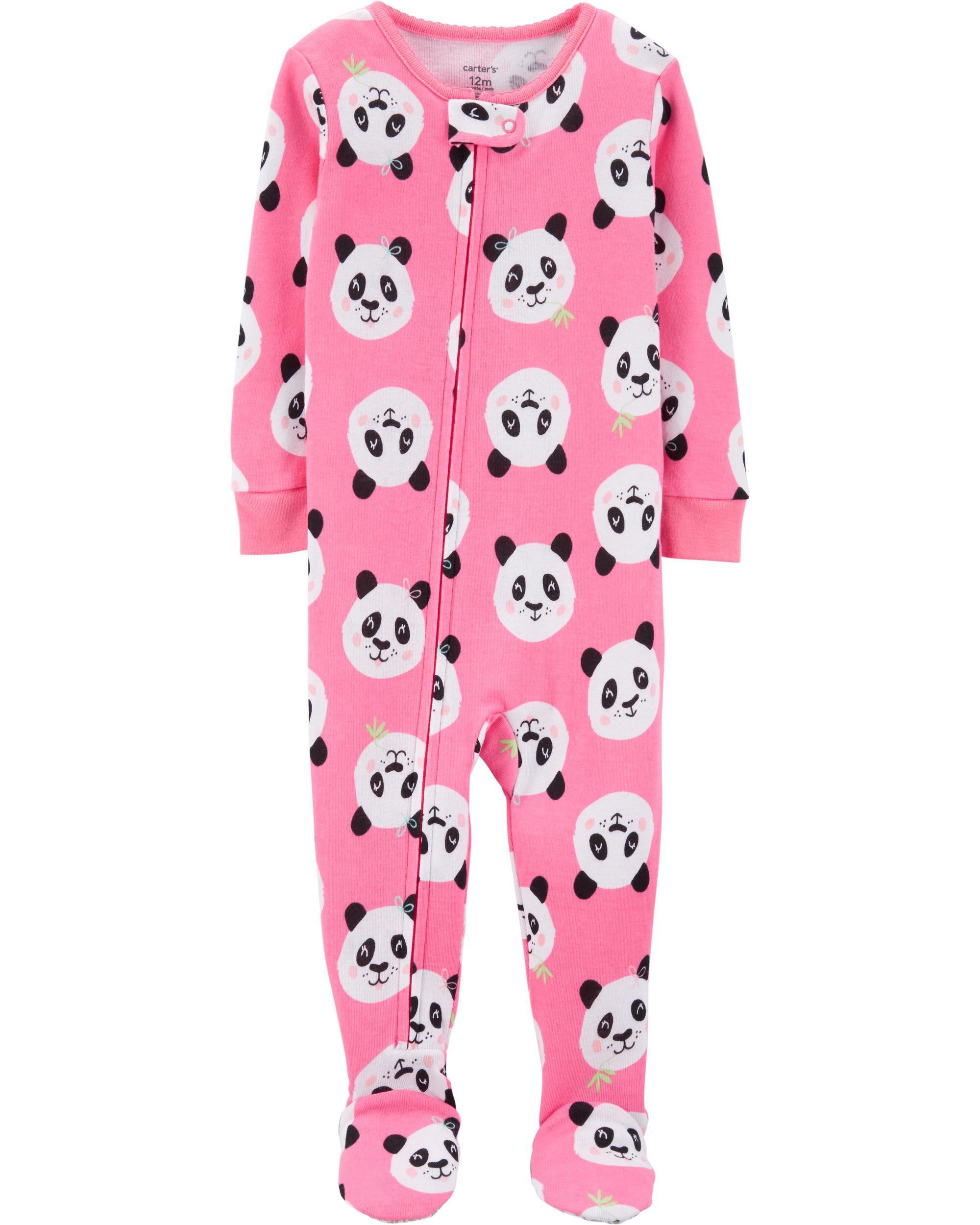 1 Piece Panda Snug Fit Cotton Footie Pjs Carter S