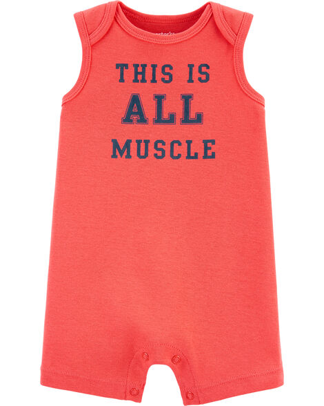 This Is All Muscle Tank Romper