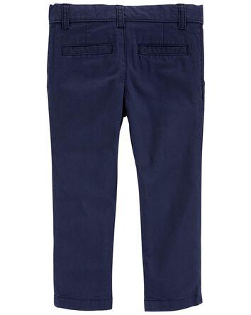 Flat-Front Chino Pants