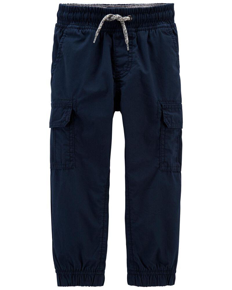Pantalon de jogging en popeline doublé de jersey, , hi-res