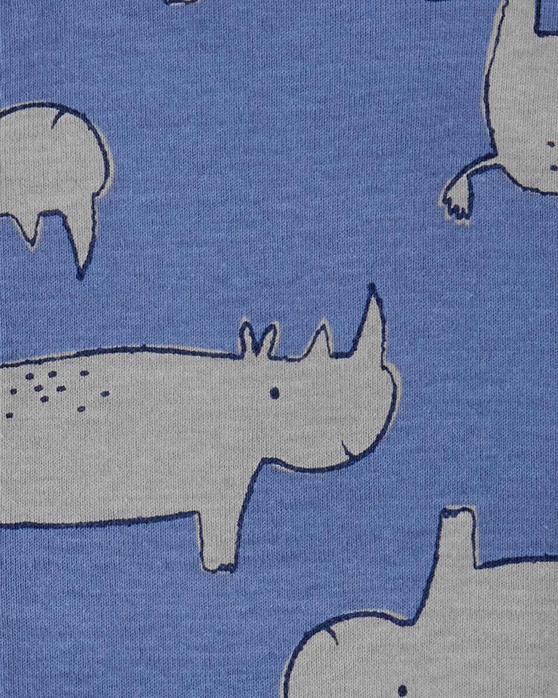 Barboteuse à boutons-pression devant et rhino, , hi-res