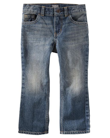 Jeans classique - délavage moyen usé
