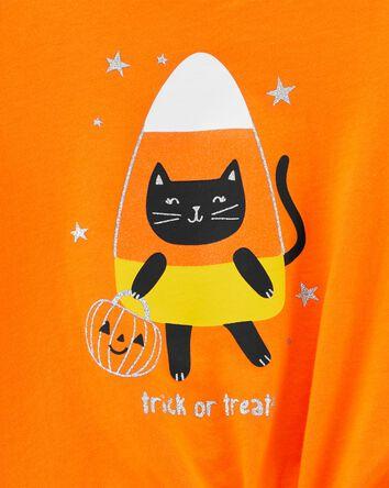 Halloween Candy Tie-Front Jersey Te...