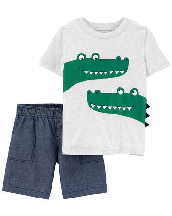 2-Piece Alligator Tee & Short Set