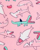 4-Piece Sharks 100% Snug Fit Cotton PJs, , hi-res
