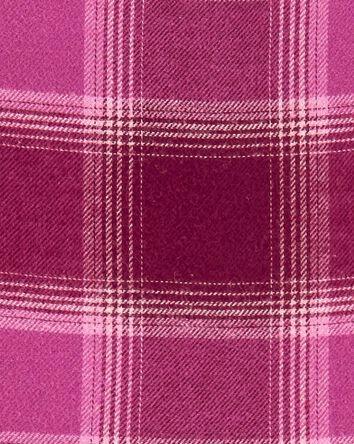 Peplum Plaid Flannel Top