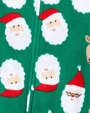 1-Piece Holiday Fleece Footless PJs