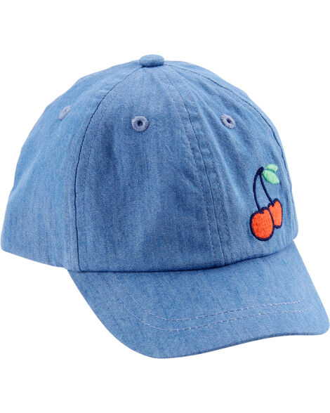 Chambray Cherry Baseball Cap