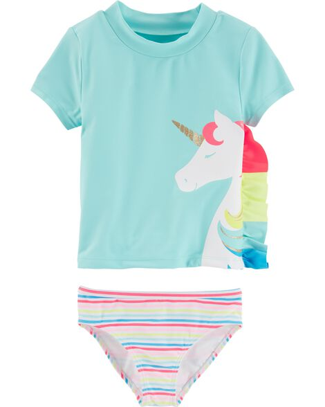 2-Piece Unicorn UV Swim Shirt Set