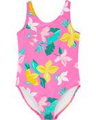 Floral 1-Piece Swimsuit, , hi-res