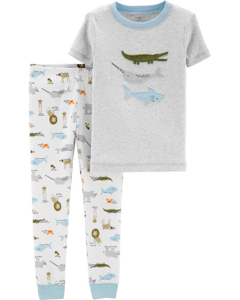 2-Piece Certified Organic Cotton Snug Fit PJs