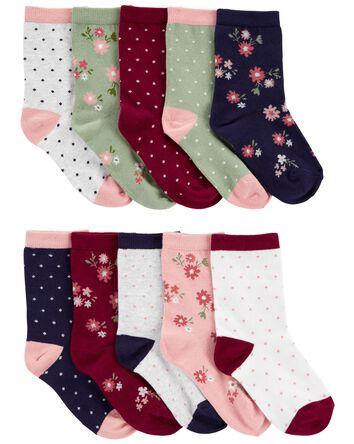 10-Pack Floral Socks