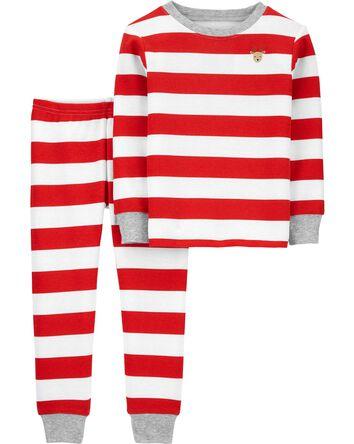 Pyjama des Fêtes 2 pièces en tissu...
