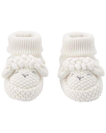 Lamb Crochet Booties