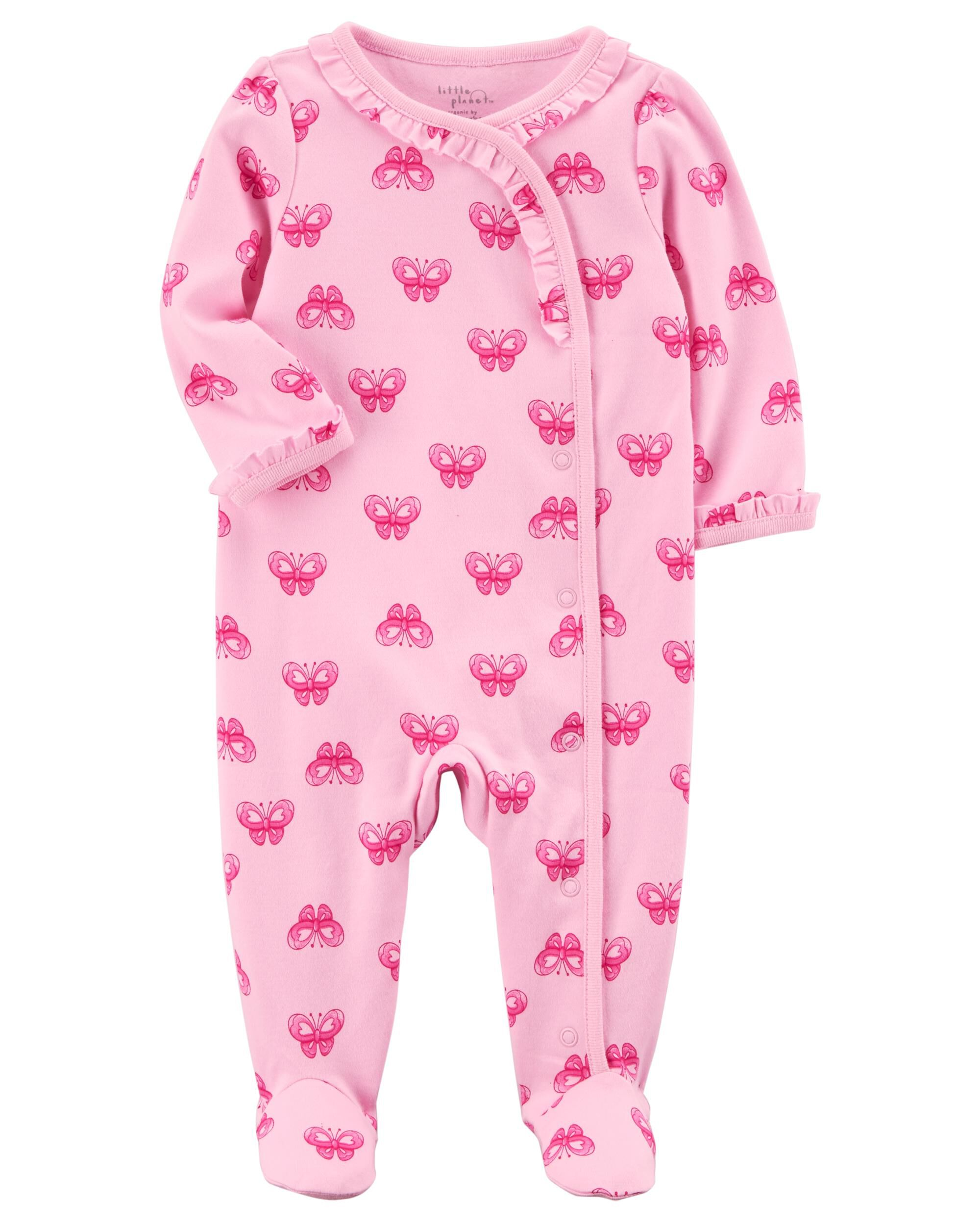 Infant Girls Footed Pink PajamasNew JUST ONE YOU Made by Carter's One-Piece 9M