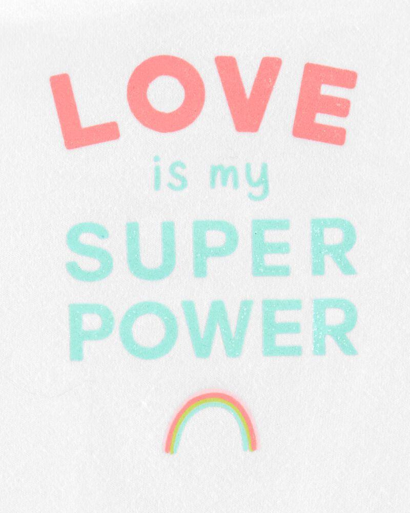Love Is My Super Power Bodysuit, , hi-res