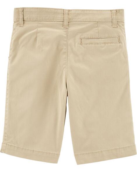 Flat Front Uniform Shorts