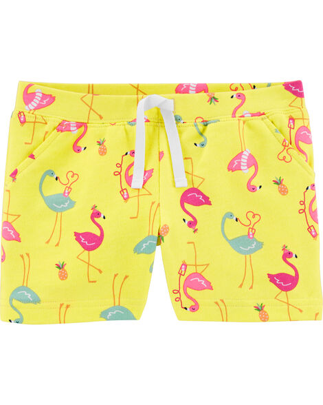 Flamingo Pull-On French Terry Shorts