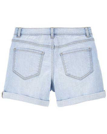 Rip-&-Repair Stretch Denim Shorts