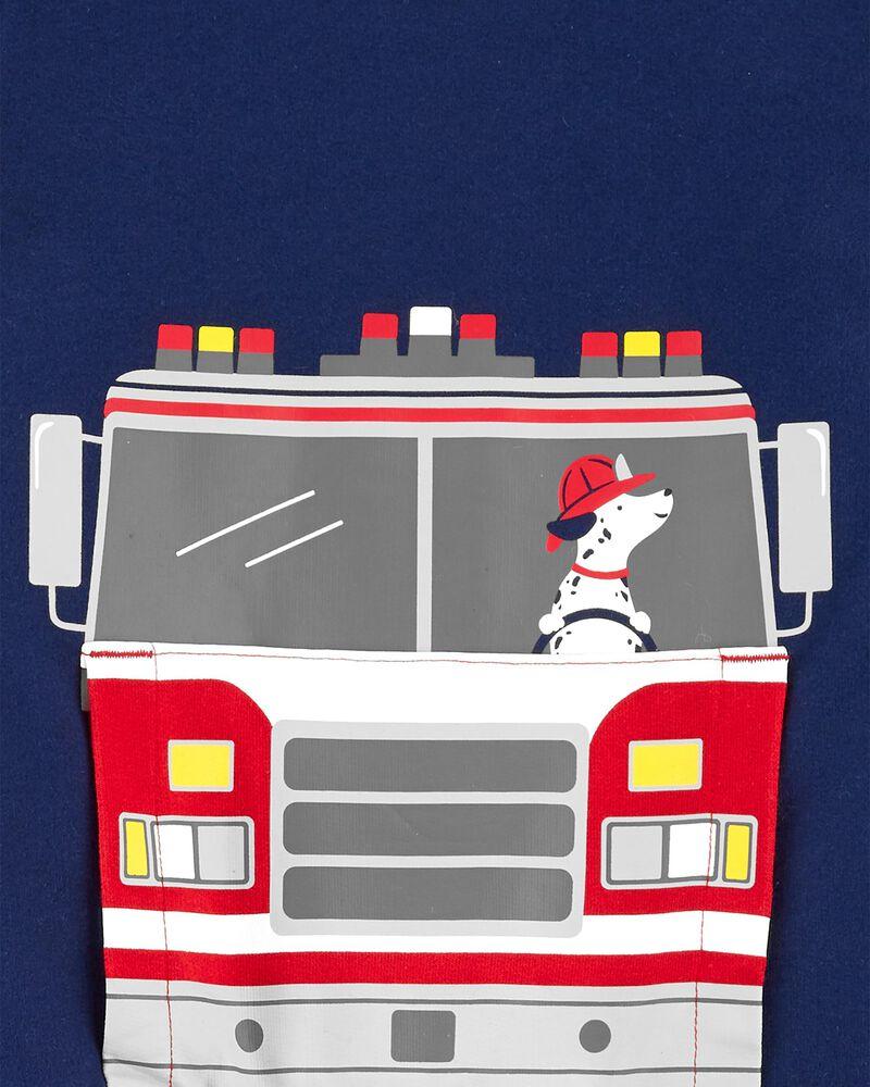 2-Piece Firetruck Fleece Top & Jogger Set, , hi-res