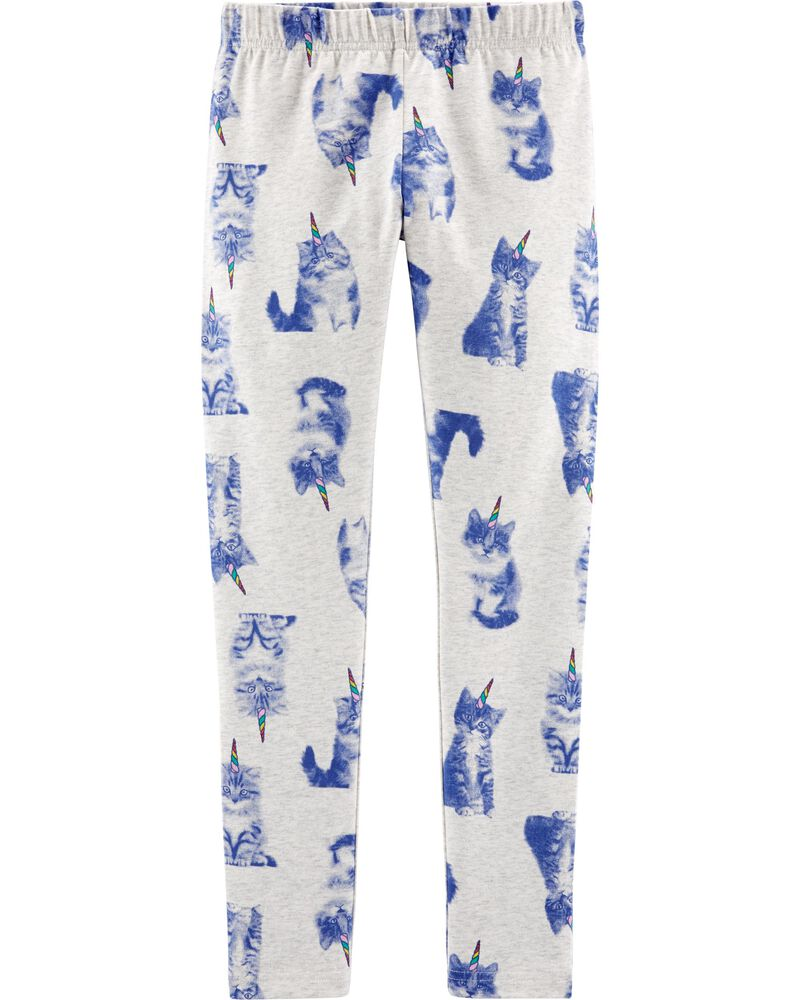 Cat Unicorn Jersey Leggings, , hi-res