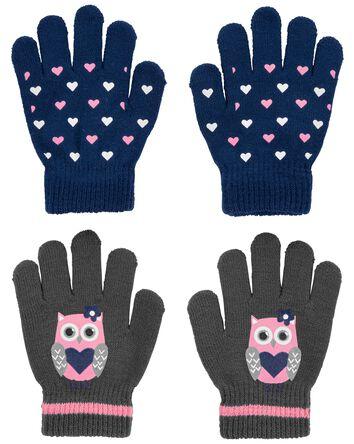 KOMBI 2-Pack Heart Owl Mini Glove S...