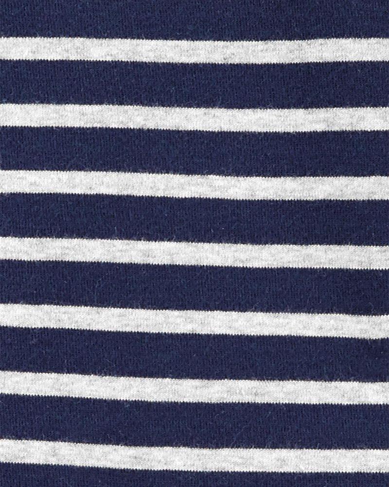 1-Piece Striped Snug Fit Cotton Footie PJs, , hi-res