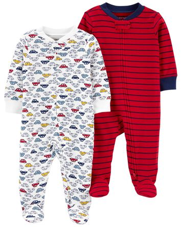 2-Pack Cotton Zip-Up Sleep & Plays
