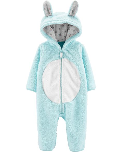 Bunny Hooded Sherpa Jumpsuit