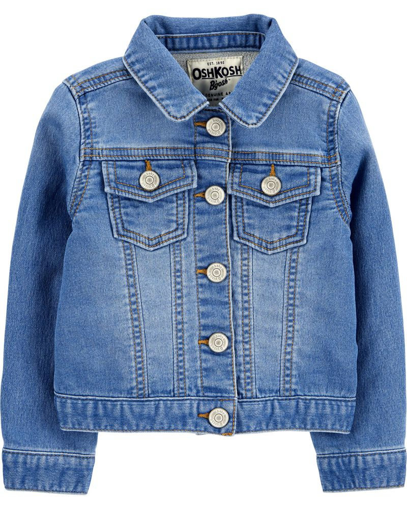Knit Denim Jacket, , hi-res