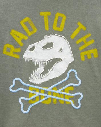 T-shirt brodé à os de dinosaure