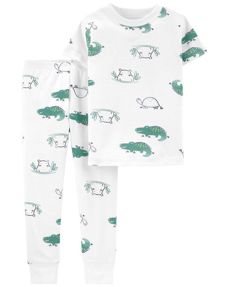 Pyjama 2 pièces en coton ajusté animaux, , hi-res
