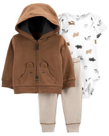 3-Piece Bear Little Jacket Set