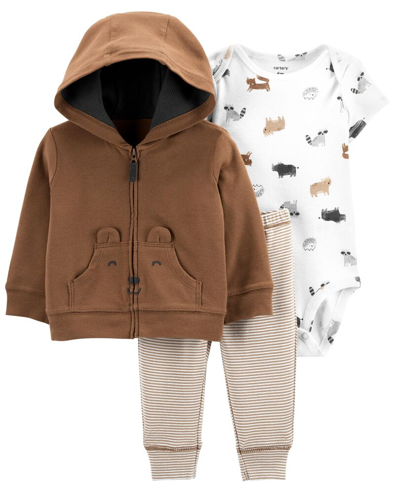 3-Piece Bear Little Jacket Set, , hi-res