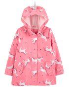 Unicorn Print Rain Jacket, , hi-res