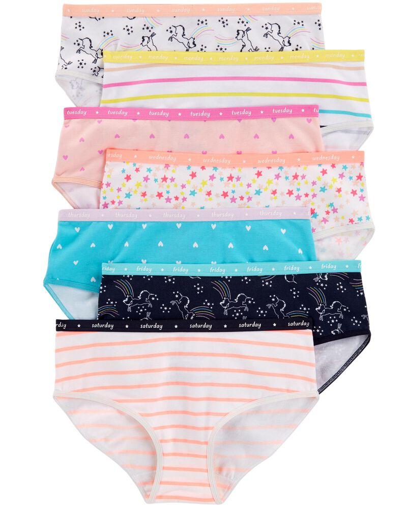 Emballage de 7 sous-vêtements en coton extensible, , hi-res