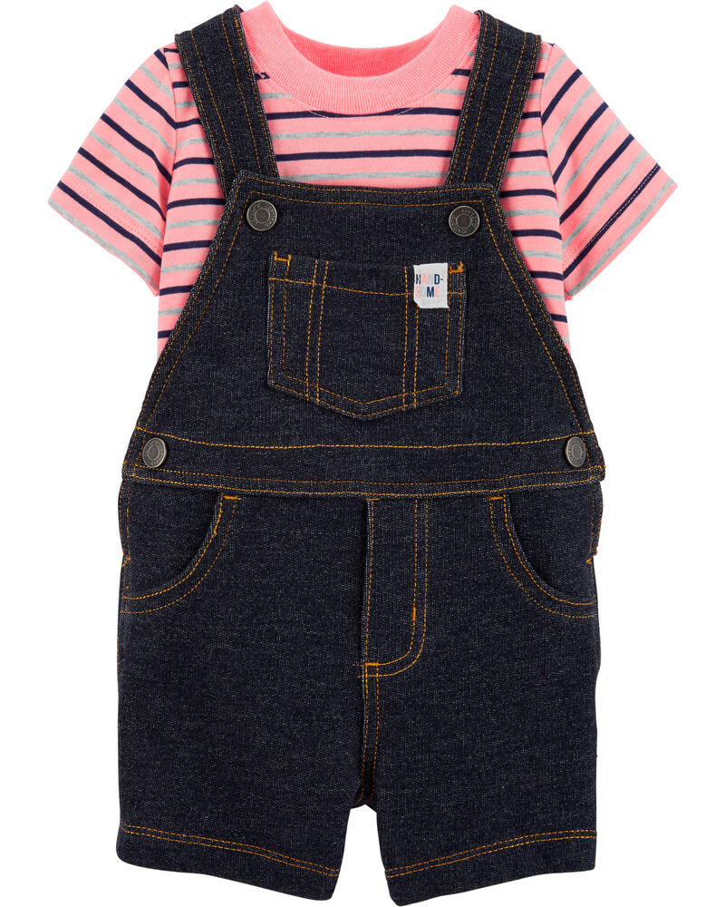 2-Piece Tee & Truck Shortalls Set, , hi-res