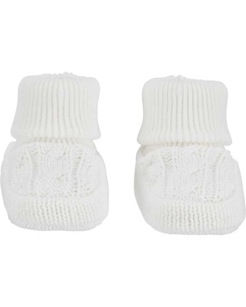 Cable Knit Booties, , hi-res