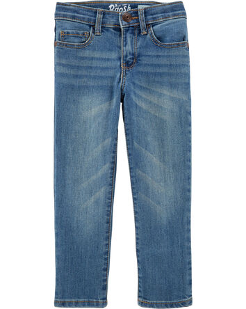 Jeans fuseau extensible - délavage...