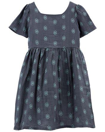 Tween Floral Gauze Dress