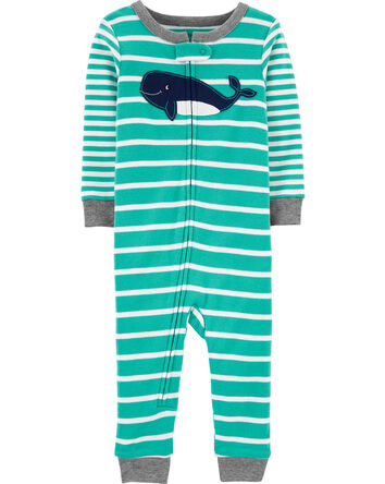 1-Piece Whale Snug Fit Cotton Footl...