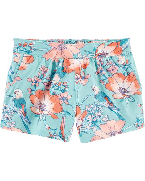 Bird Pom Pocket Pull-On Shorts
