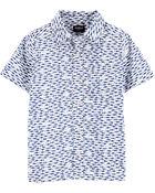 Shark Button-Front Shirt, , hi-res
