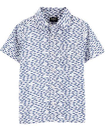 Chemise boutonnée à requin