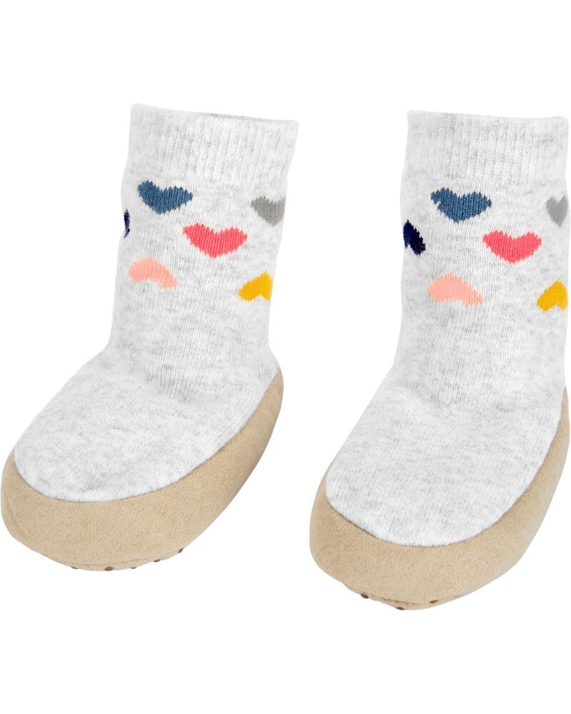 Heart Slipper Socks, , hi-res