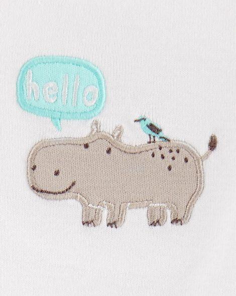 Ensemble haut à capuchon 3 pièces hippopotame