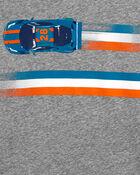T-shirt en jersey à capuchon et voiture de course, , hi-res