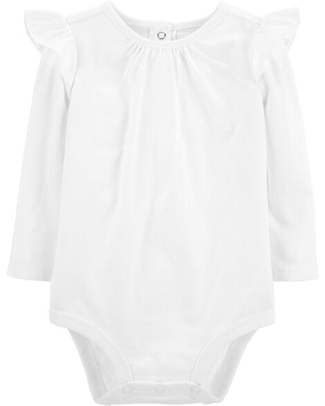 Ruffle Shoulder Bodysuit